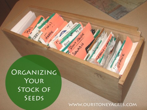 Organizing Your Stock of Seeds