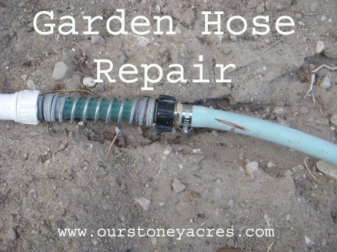 Do it Yourself Friday Garden Hose Repair Stoney Acres