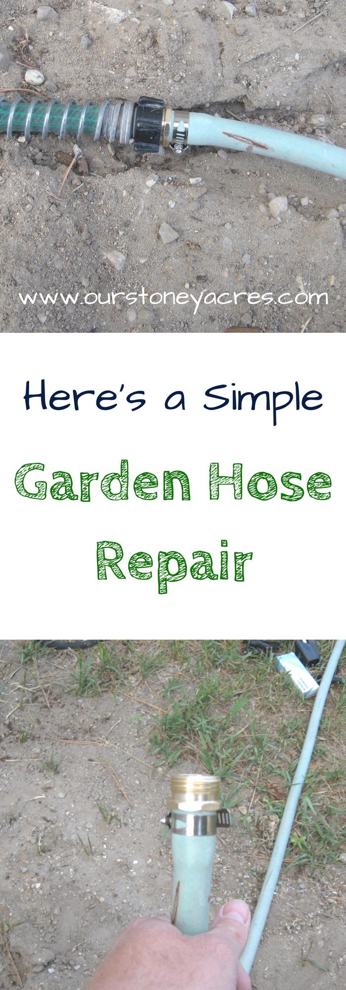 Simple Garden Hose Repair Stoney Acres