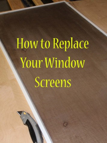 How to replace your window screens
