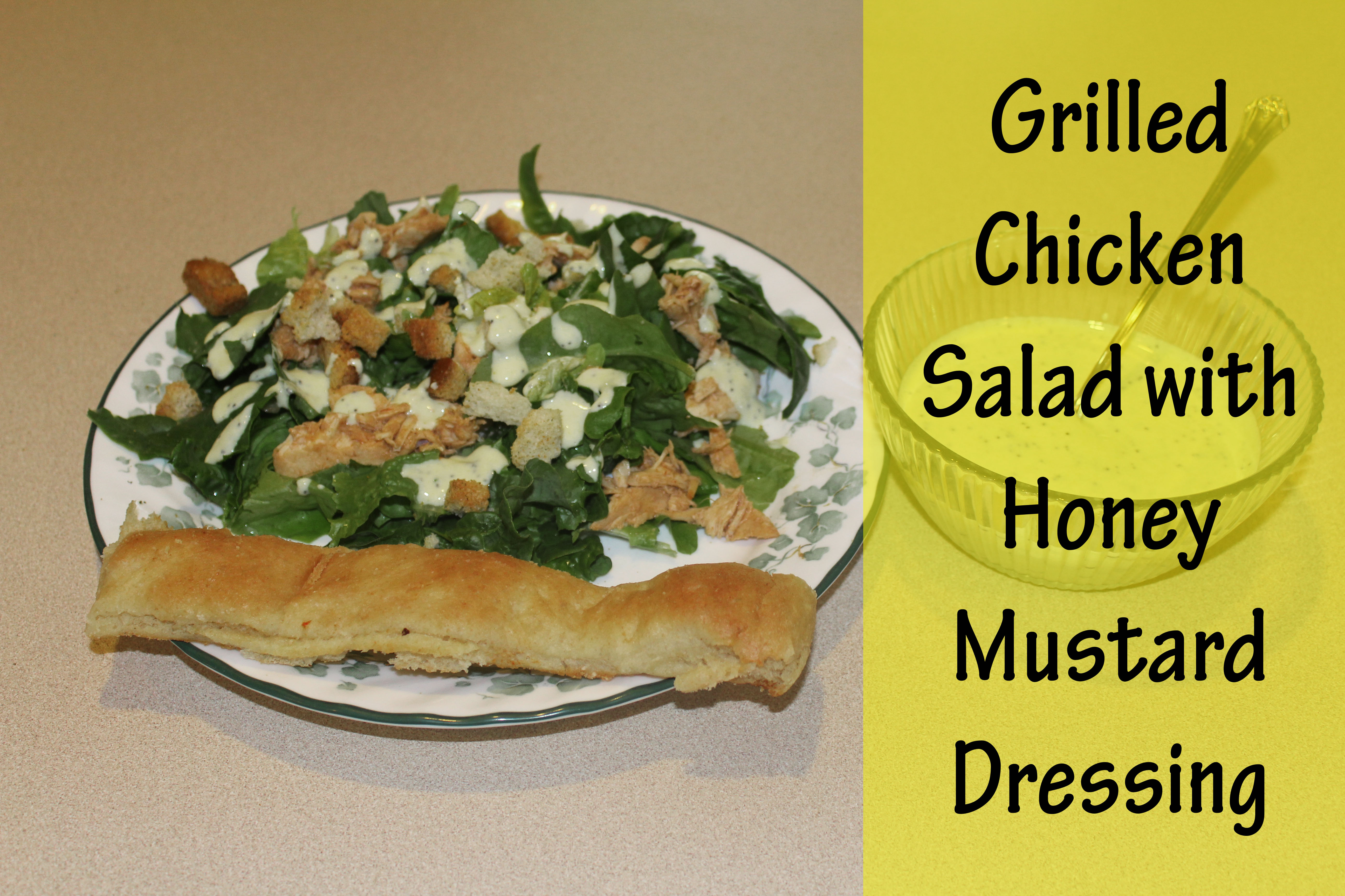 Grilled Chicken Salad with Honey Mustard Dressing - Stoney ...