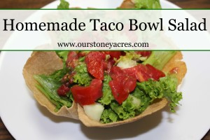 Homemade Taco Bowl Salad