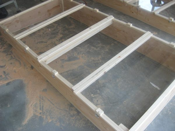 Building a garden cold frame - the finished product