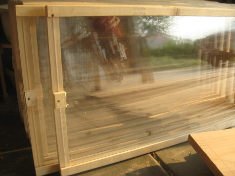 Building a garden Cold Frame - Add the glass