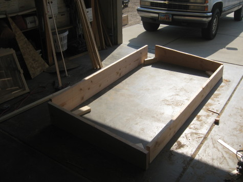 Building a cold frame - Angled cuts