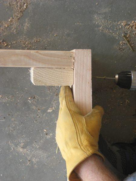 Building a garden Cold Frame - Side Screws