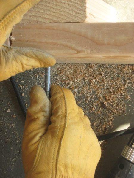 Building A garden Cold Frame - Install Bolts