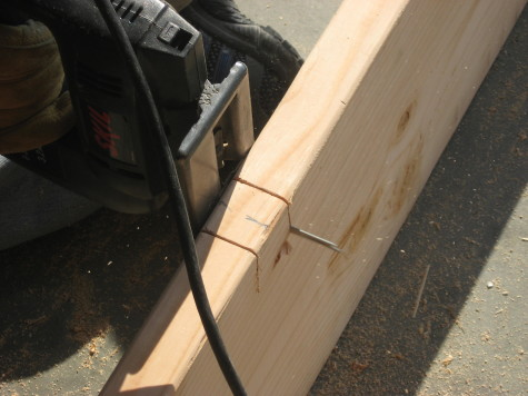 Building a garden Cold Frame - Stretcher notch
