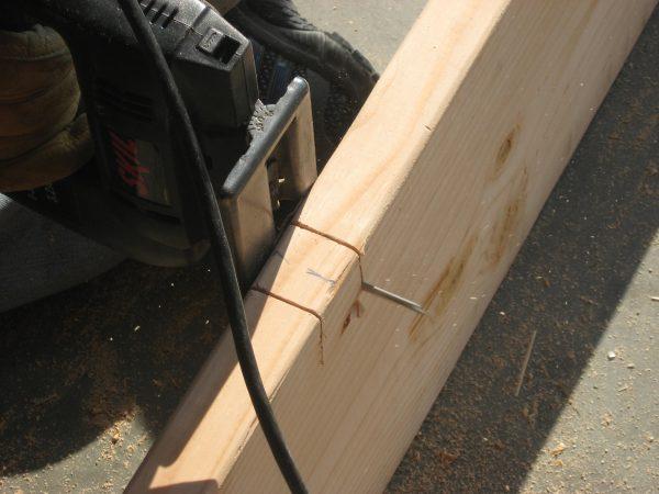 Building a garden Cold Frame - Stretcher notch
