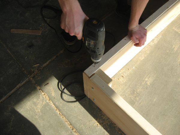 Building a garden Cold Frame - Scrap