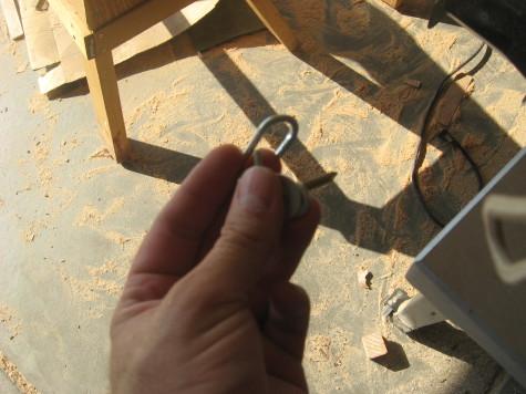 Building A garden Cold Frame - Hooks