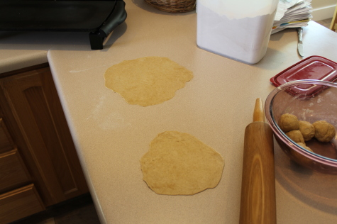 Homemade Whole Wheat Tortillas ready