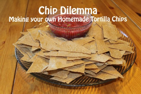 making your own homemade tortilla chips