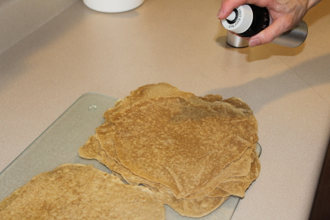 making your own homemade tortilla chips spray