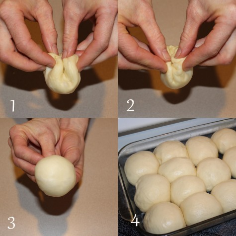 Homemade dinner rolls steps