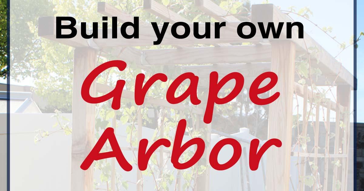DIY Grape Arbor Fb