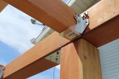 Building a Grape Arbor joist hangers
