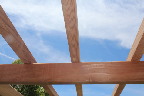 Building a Grape Arbor top boards