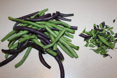 Freezing Green Beans Snip