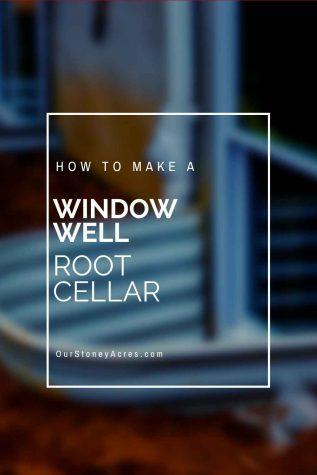 Window Well root cellar