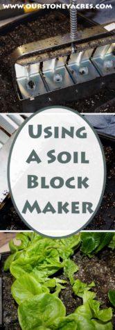 Using a Soil Block Maker