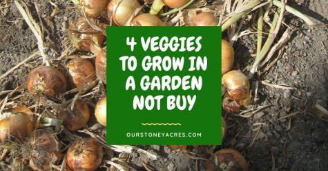 4 Veggies to grow not buy