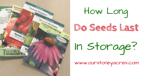 How long do seeds last in storage - FB
