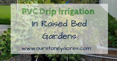 PVC Drip Irrigation system in Raised Beds - FB