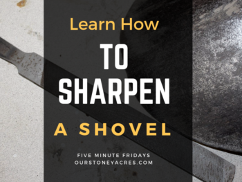 How to Sharpen Your Garden Shovel