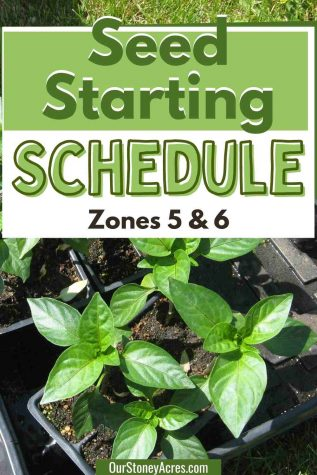 Seed Starting Schedule